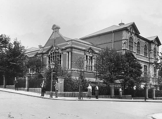 Carnegie Library in an old photograph