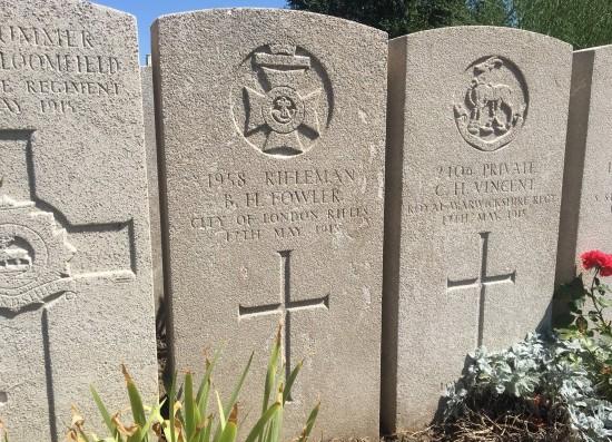 Rifleman Bertram Harold Fowler's grave