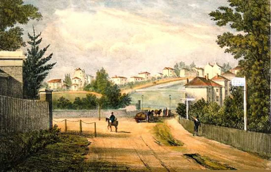 Herne Hill in 1823: painter unknown
