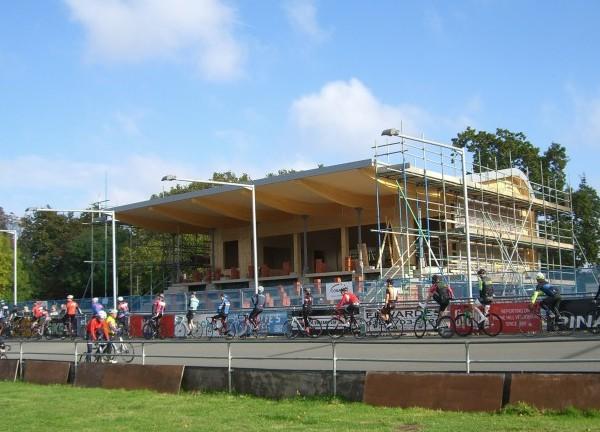 The new pavilion under construction